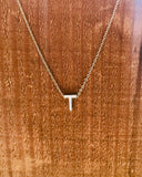 Silver Initial Necklace-Anchored Bliss -T-Shop Anchored Bliss Women's Boutique Clothing Store