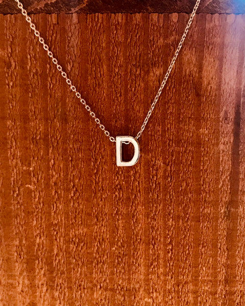 Silver Initial Necklace-Anchored Bliss -D-Shop Anchored Bliss Women's Boutique Clothing Store