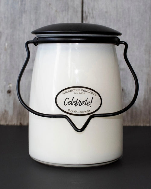 Celebrate Butter Jar Candle • 22 oz-Milkhouse Candle Company-Shop Anchored Bliss Women's Boutique Clothing Store