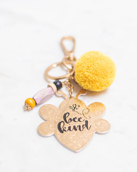 Bee Kind Keychain-Jane Marie-Shop Anchored Bliss Women's Boutique Clothing Store
