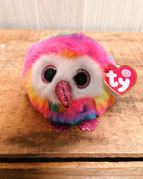 TY Puffies Owen Multicolor Owl-Peyton Todish-Shop Anchored Bliss Women's Boutique Clothing Store