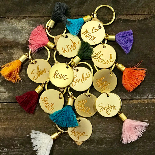 Inspirational Word Tassel Keychain-Amy Tannery-Shop Anchored Bliss Women's Boutique Clothing Store