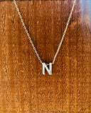Silver Initial Necklace-Anchored Bliss -N-Shop Anchored Bliss Women's Boutique Clothing Store