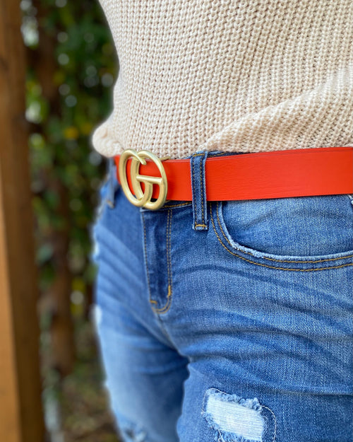 What Comes Around Belt • Orange-JOIA-Shop Anchored Bliss Women's Boutique Clothing Store
