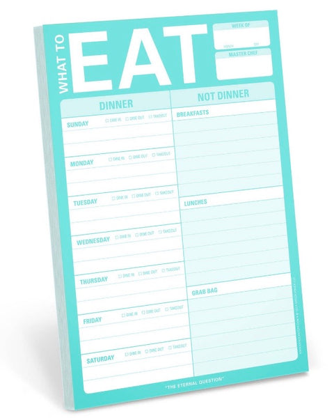 What to Eat Notepad • Mint-Knock Knock-Shop Anchored Bliss Women's Boutique Clothing Store