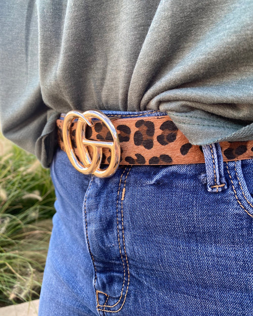 What Comes Around Belt • Dark Leopard-JOIA-Shop Anchored Bliss Women's Boutique Clothing Store
