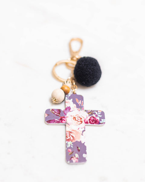 But First Pray Keychain-Jane Marie-Shop Anchored Bliss Women's Boutique Clothing Store