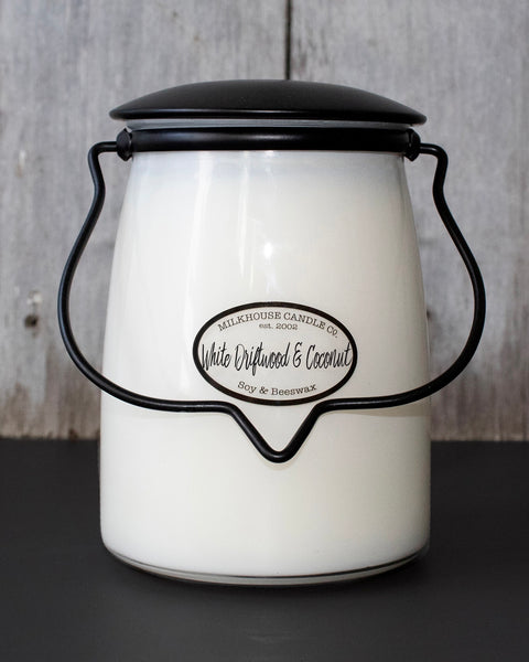 White Driftwood & Coconut Butter Jar Candle • 22 oz-Milkhouse Candle Company-Shop Anchored Bliss Women's Boutique Clothing Store