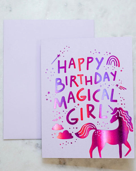 Magical Girl Birthday Card-The Social Type-Shop Anchored Bliss Women's Boutique Clothing Store