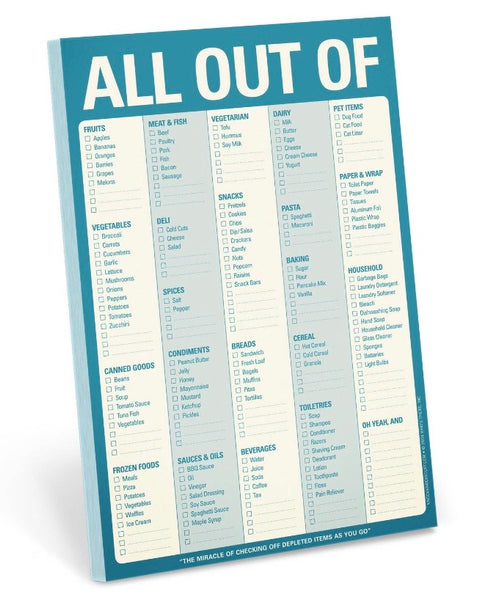 All Out Of Notepad • Blue-Knock Knock-Shop Anchored Bliss Women's Boutique Clothing Store