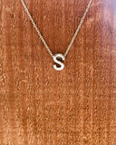 Silver Initial Necklace-Anchored Bliss -S-Shop Anchored Bliss Women's Boutique Clothing Store