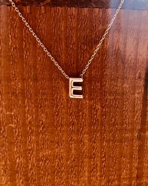 Silver Initial Necklace-Anchored Bliss -E-Shop Anchored Bliss Women's Boutique Clothing Store