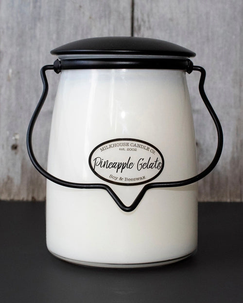 Pineapple Gelato Butter Jar Candle • 22 oz-Milkhouse Candle Company-Shop Anchored Bliss Women's Boutique Clothing Store