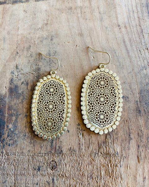 Bailey Metal Filigree Earrings-JOIA-Shop Anchored Bliss Women's Boutique Clothing Store