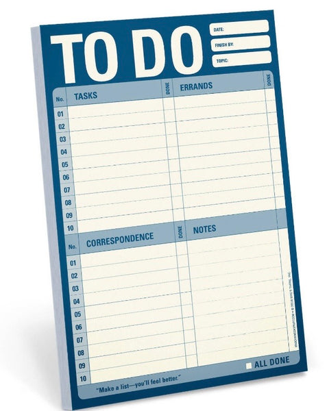 To Do Notepad • Navy-Knock Knock-Shop Anchored Bliss Women's Boutique Clothing Store