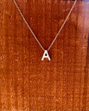 Silver Initial Necklace-Anchored Bliss -A-Shop Anchored Bliss Women's Boutique Clothing Store