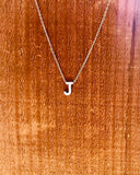 Silver Initial Necklace-Anchored Bliss -J-Shop Anchored Bliss Women's Boutique Clothing Store
