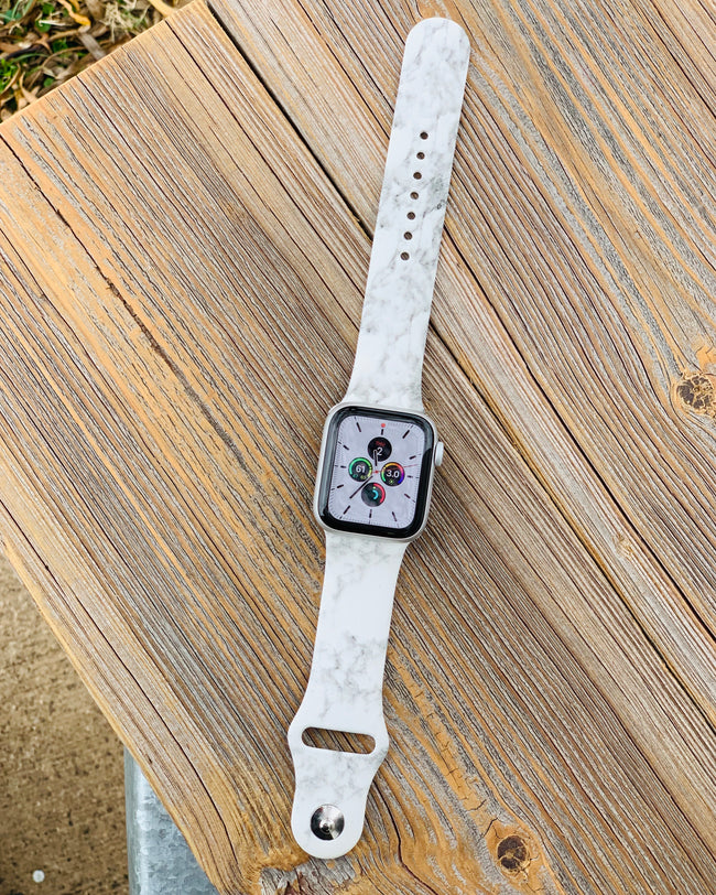 Apple Watch Band • White Marble-Zaana-Shop Anchored Bliss Women's Boutique Clothing Store