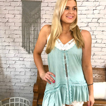 Zena High Low Crochet Trim Cami