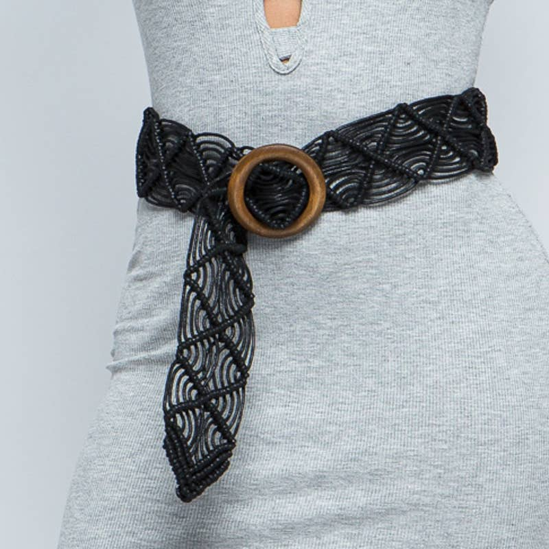 Leto Accessories - Woven Beach Belt