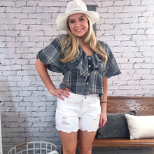 Cheyenne Plaid Top