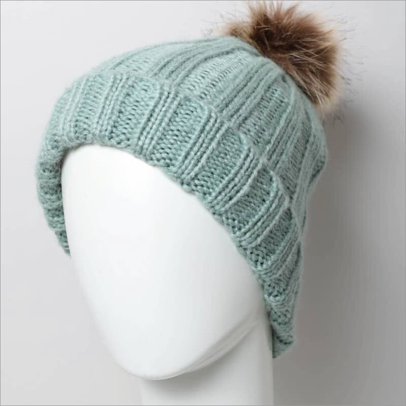 Baby It's Cold Ribbed Pom Beanie