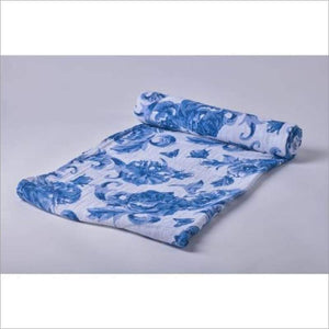 Blue Butterfly Swaddle Blanket
