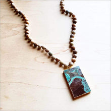 The Jewelry Junkie - Bohemian Natural Jasper Necklace with Agate Pendant Faire