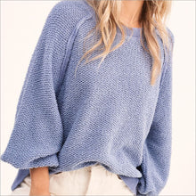 Carino Textured Sweater Top Sweater, Tops