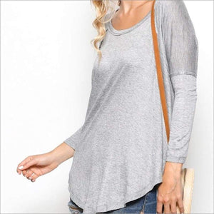 Long Sleeves High Low Top Top Top