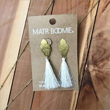 Off White Tassel Nihira Ashram Window Earrings