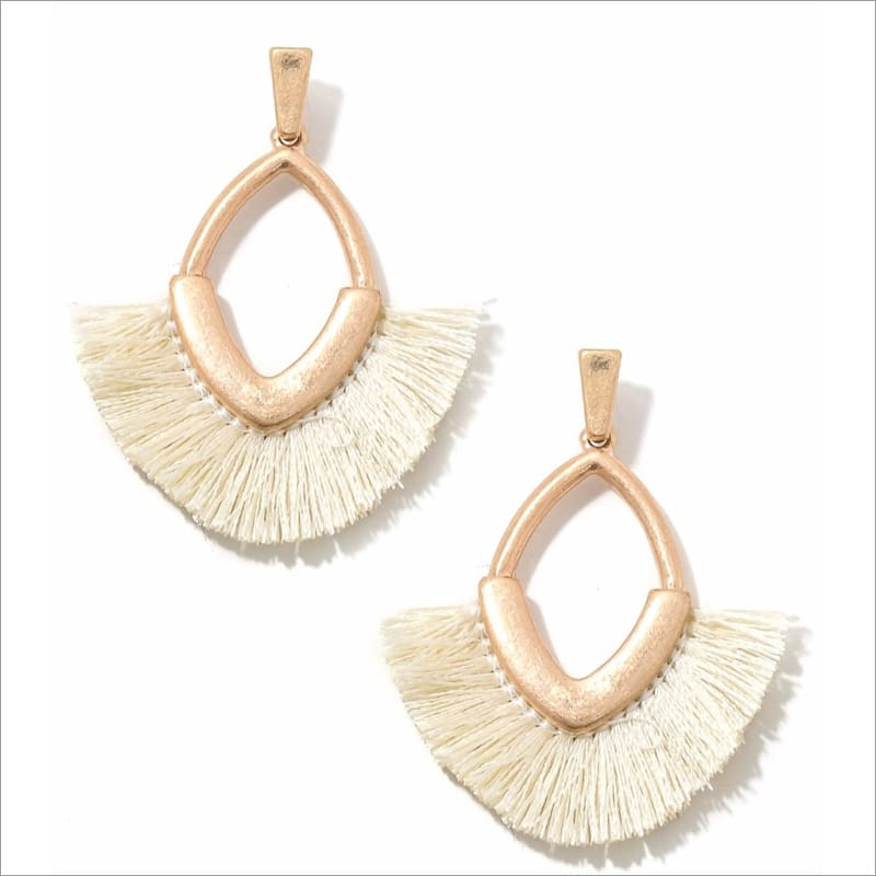 Oval Fan Ivory Earrings Earrings Earrings