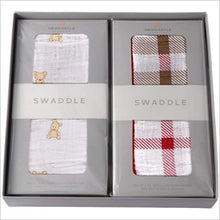 Teddy Bear and Plaid Swaddle Gift Box Set