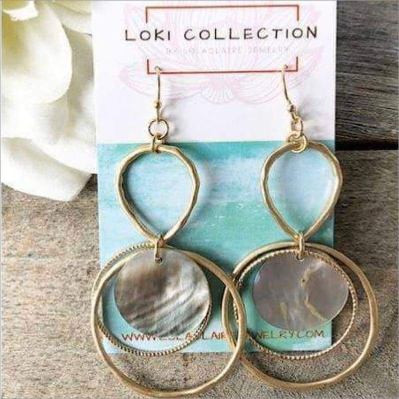 Tides of Abalone Earrings