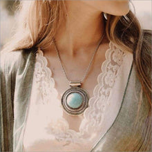 Turquoise Medallion Necklace