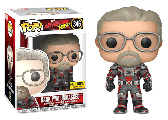 Pop! Marvel: Ant-Man & The Wasp - Hank Pym [Unmasked] (Hot Topic Exclusive) - Mom's Basement Collectibles