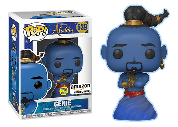 Pop! Disney: Aladdin - Genie [Glow In The Dark] (Amazon Exclusive) - Mom's Basement Collectibles