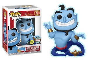 Pop! Disney: Aladdin - Genie With Lamp [Glow-In-The-Dark] (Funko Specialty Exclusive) - Mom's Basement Collectibles