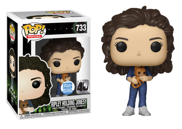 Pop! Movies: Alien 40th Anniversary - Ripley Holding Jonsey (Funko Shop Exclusive) - Mom's Basement Collectibles
