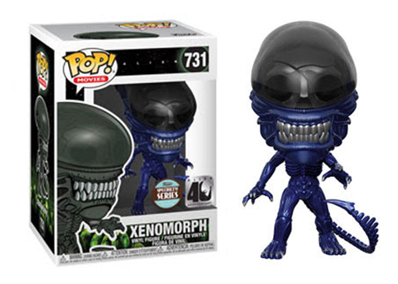 [PRE-ORDER] Pop! Movies: Alien 40th Anniversary - Xenomorph [Blue Metallic] (Funko Specialty Exclusive) - Mom's Basement Collectibles