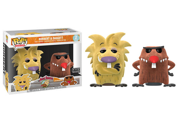 Pop! Animation: Angry Beavers - Norbert & Daggett 2 Pack [Flocked] (FYE Exclusive) - Mom's Basement Collectibles