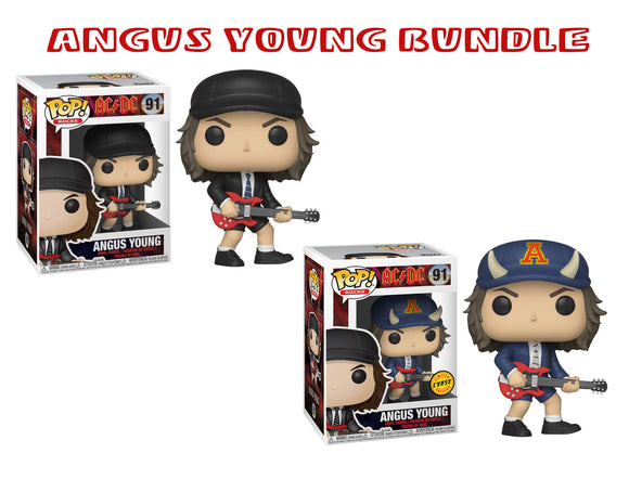 [PRE-ORDER] Bundle: Pop! Rocks: AC/DC - Angus Young CHASE - Mom's Basement Collectibles