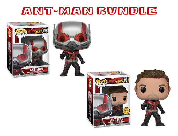 Bundle: Pop! Marvel: Ant-Man & The Wasp - Ant-Man CHASE - Mom's Basement Collectibles