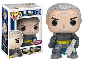 Pop! Heroes: Batman The Dark Knight Returns - Armored Batman [Unmasked] (PX Exclusive) - Mom's Basement Collectibles