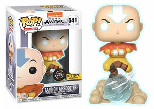 Pop! Animation: Avatar: The Last Airbender - Aang on Airscooter (Hot Topic Exclusive) GLOW CHASE - Mom's Basement Collectibles