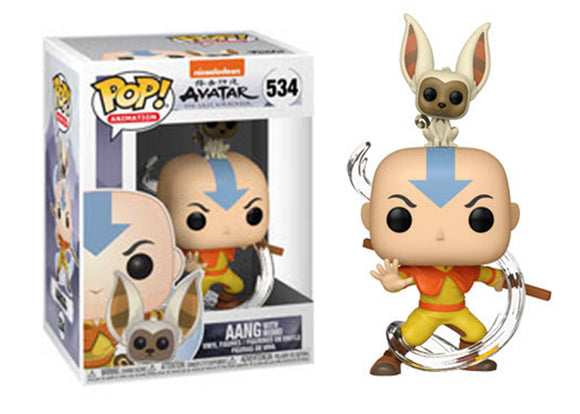 Pop! Animation: Avatar: The Last Airbender - Aang with Momo - Mom's Basement Collectibles