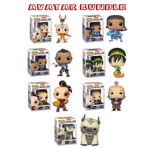 [PRE-ORDER] Bundle: Pop! Animation: Avatar: The Last Airbender Set - Mom's Basement Collectibles