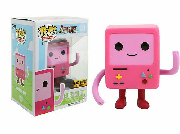 Pop! Television: Adventure Time - Blushing BMO (Hot Topic Exclusive) - Mom's Basement Collectibles