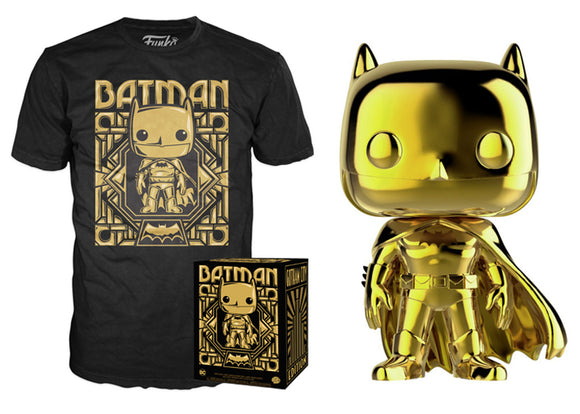 Pop! DC Collectors Box: Batman Gold Pop & T-Shirt [Large] (Target Exclusive) - Mom's Basement Collectibles