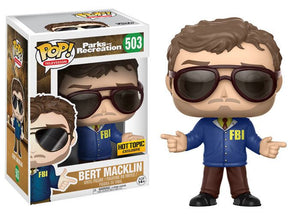 Pop! Television: Parks & Recreation - Bert Macklin (Hot Topic Exclusive) - Mom's Basement Collectibles